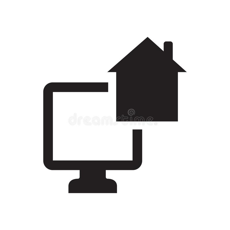 Icône sociale de médias de Chambre Concept social de logo de médias de Chambre à la mode illustration de vecteur