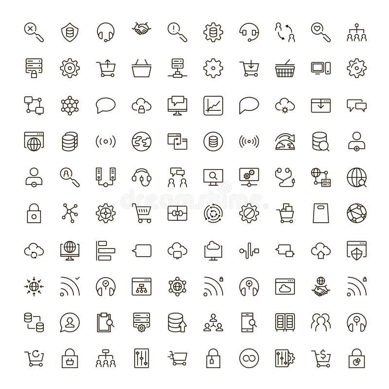 Icône sociale de réseau illustration de vecteur