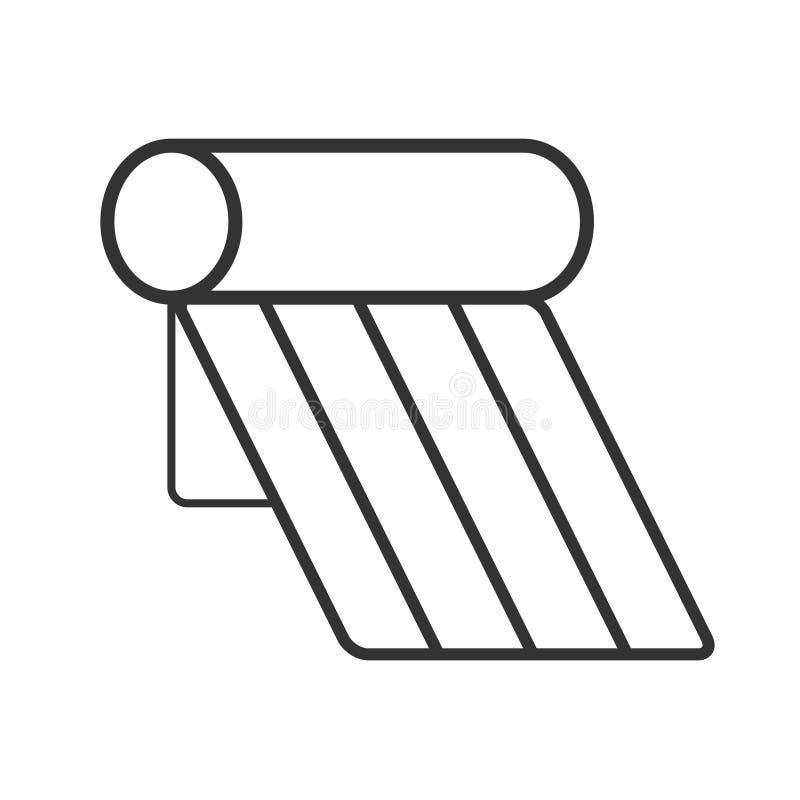 Icône solaire de chauffe-eau illustration de vecteur