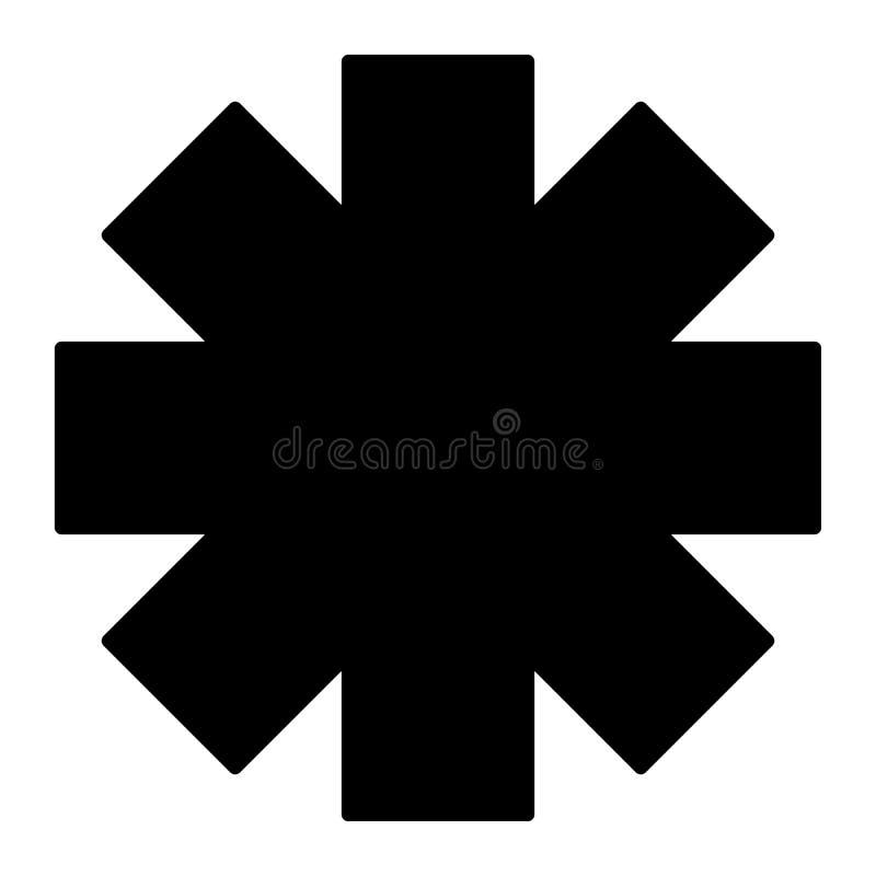 Icône solide d'étoile de secours Illustration de vecteur de signe d'ambulance d'isolement sur le blanc Conception médicale de sty illustration libre de droits