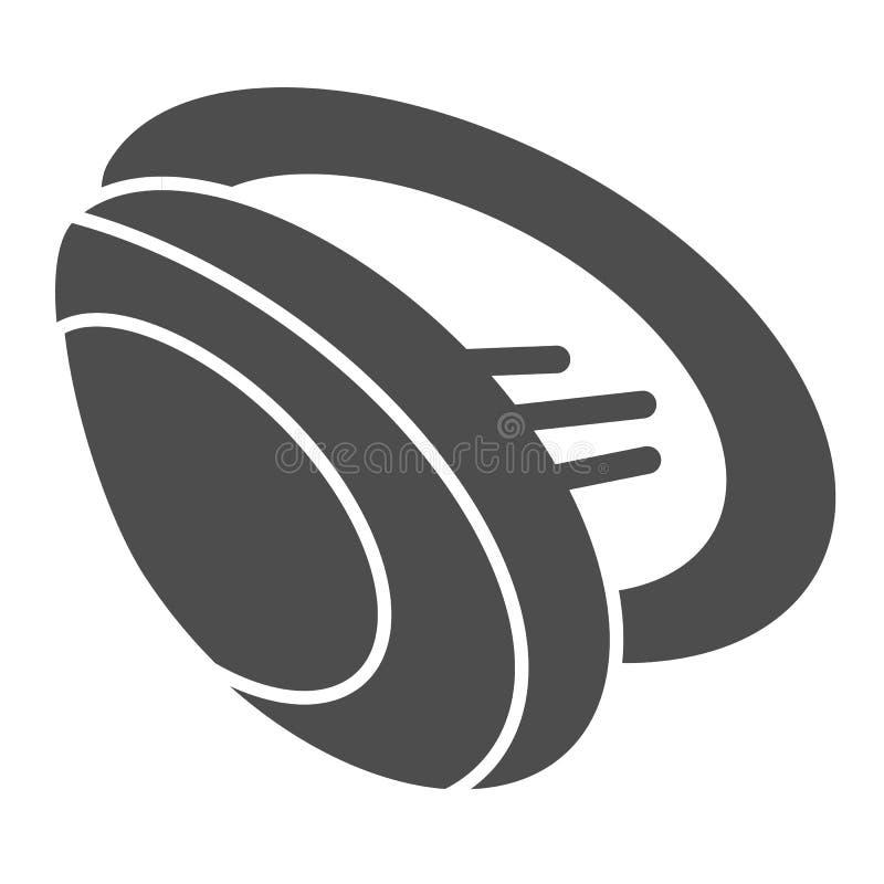Icône solide de moule Illustration de vecteur de Shell d'isolement sur le blanc Conception de style de glyph de fruits de mer, co illustration libre de droits