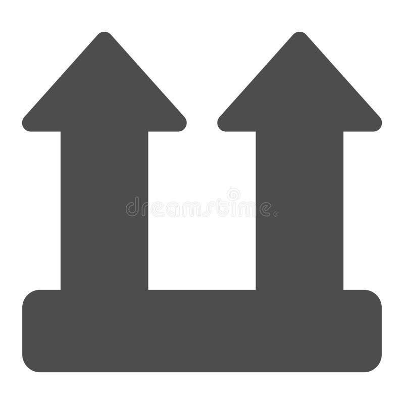 Icône solide de signe de charge de cargaison Illustration de vecteur de symbole de fl?che de charge d'isolement sur le blanc Conc illustration libre de droits