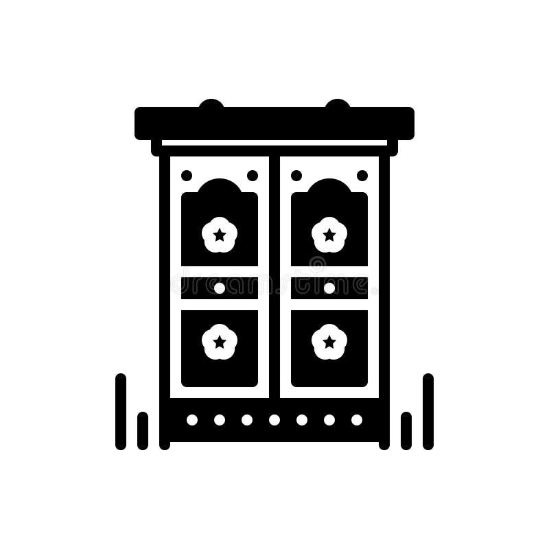 Icône solide noire pour Antic, excentrique et singulier illustration libre de droits