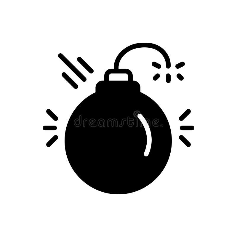 Icône solide noire pour disruptif, néfaste et préjudiciable illustration libre de droits