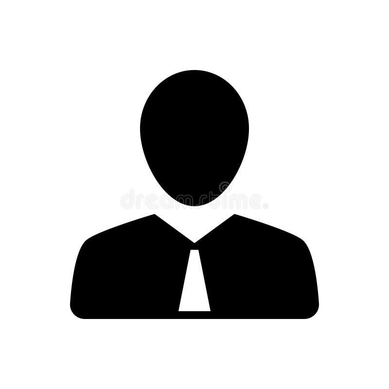 Icône solide noire pour l'employé, le demandeur et l'homme illustration libre de droits