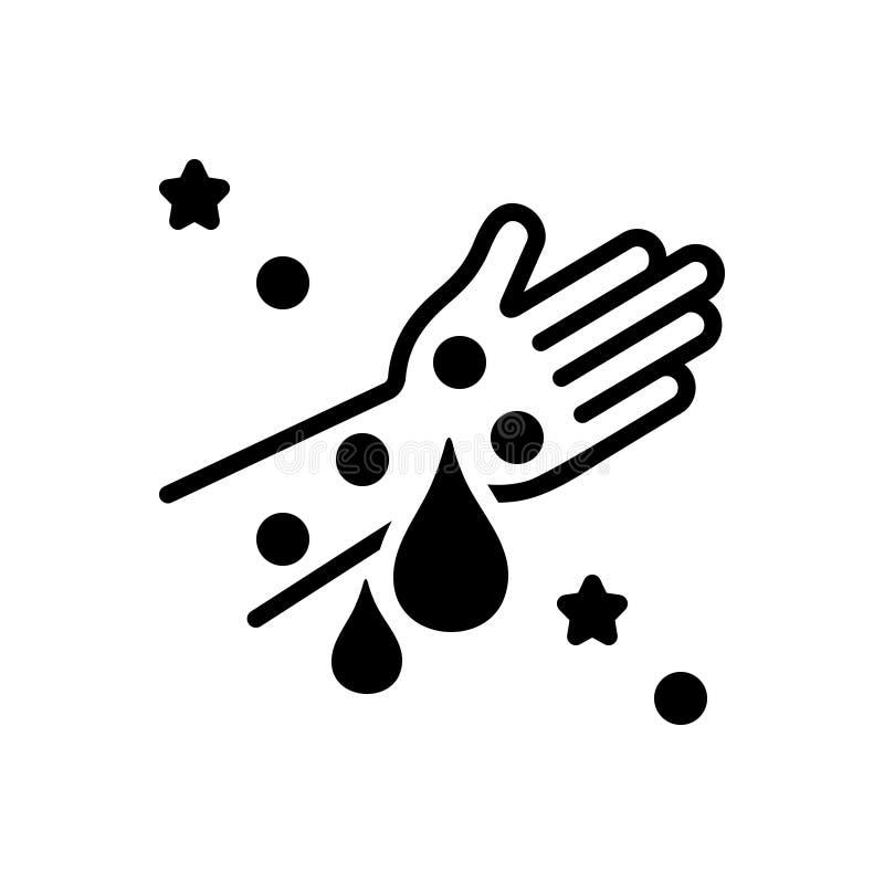 Icône solide noire pour l'hémophilie, la maladie et la purge illustration de vecteur