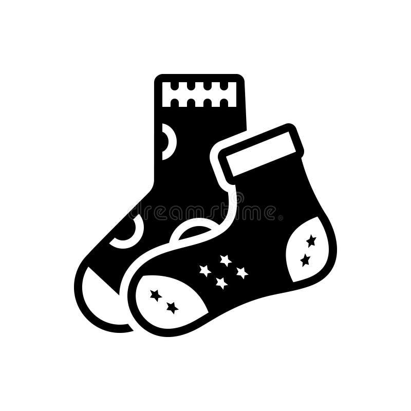 Icône solide noire pour la disparité, les chaussettes et la nudité illustration stock