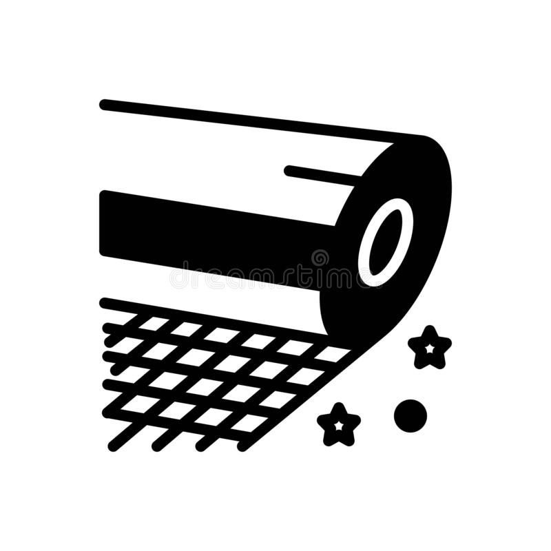 Icône solide noire pour la fibre de verre, le plastique et le spoiler illustration stock