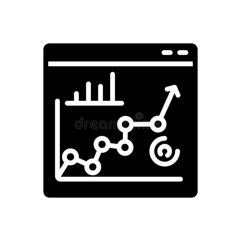 Icône solide noire pour la représentation, la planification et le rang illustration de vecteur