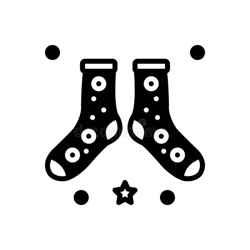 Icône solide noire pour le manque de netteté, les chaussettes et la nudité illustration libre de droits