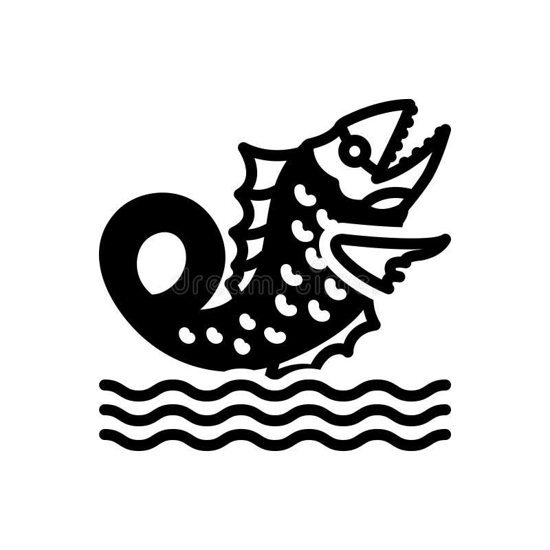 Icône solide noire pour le navire géant, antique et sous-marin illustration stock