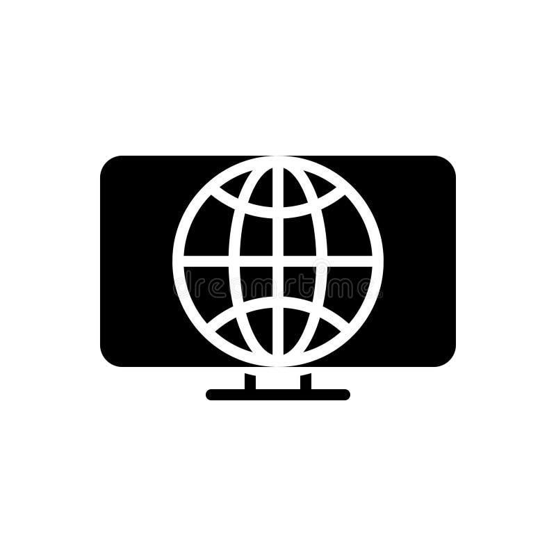 Ic?ne solide noire pour le Web, l'initiative et le d?veloppement illustration stock
