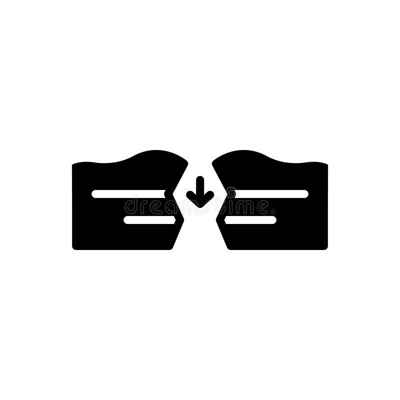 Icône solide noire pour Sapce, lacunes et intervalle illustration libre de droits