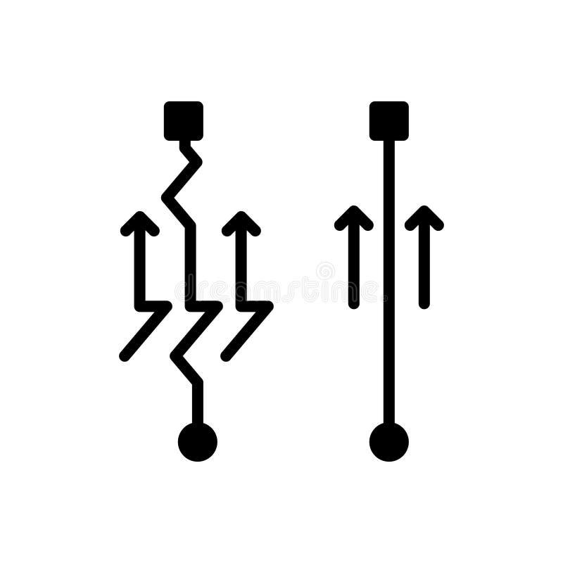 Icône solide noire pour simple, facile et commode illustration de vecteur