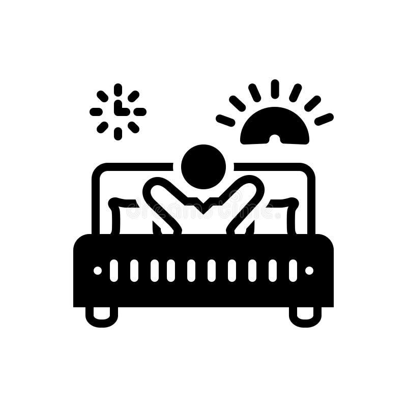 Icône solide pour Avicii, éveillé noirs et personne illustration libre de droits