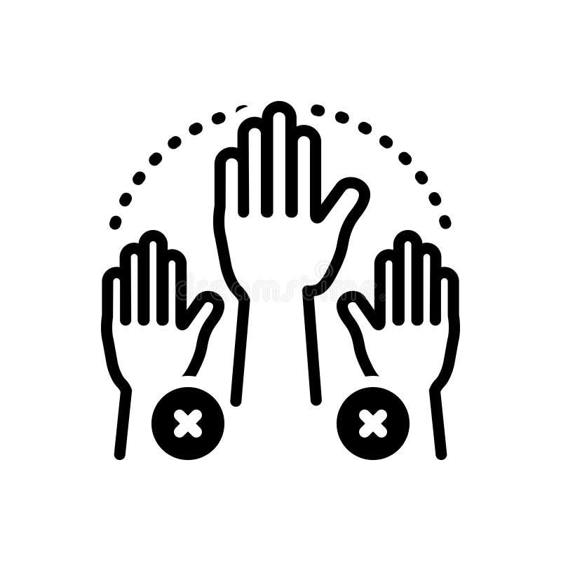 Icône solide pour l'absentéisme, absent noirs et manquer illustration de vecteur