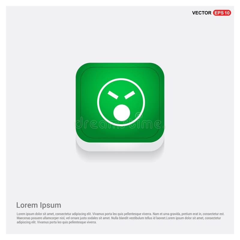 icône souriante, bouton de Web de vert d'icône de visage illustration libre de droits