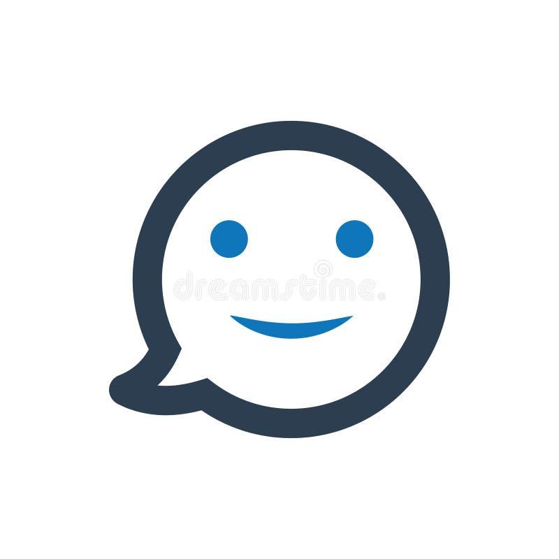 Icône souriante heureuse illustration de vecteur