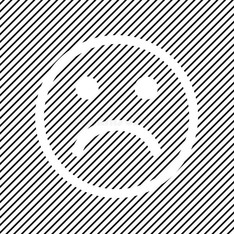 Icône souriante négative sur le fond rayé noir, conception d'ensemble Vecteur illustration de vecteur
