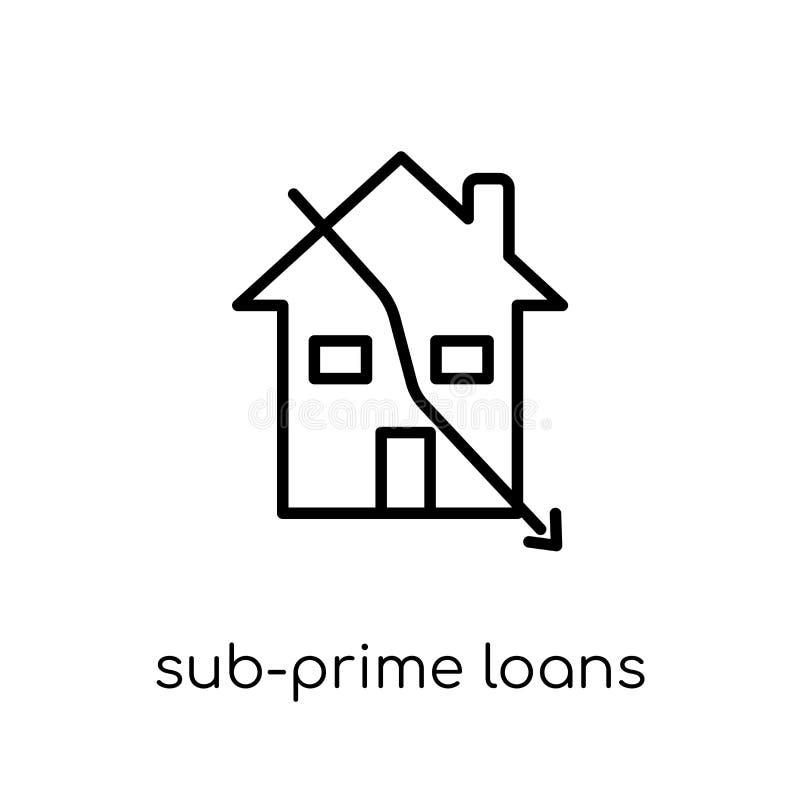 icône Sous-principale de prêts  illustration libre de droits