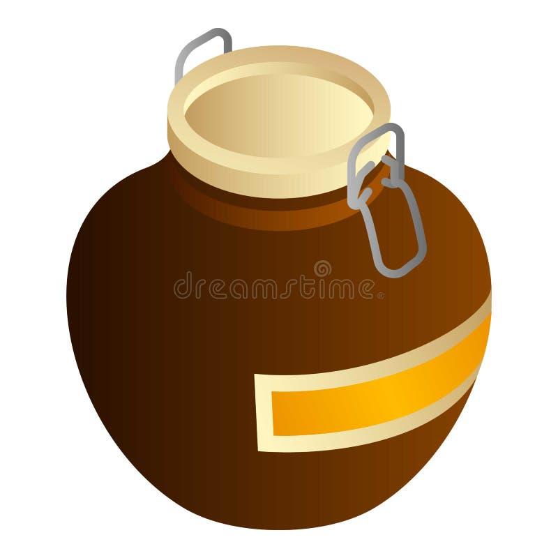 Icône spéciale de pot de miel de Baker, style isométrique illustration de vecteur