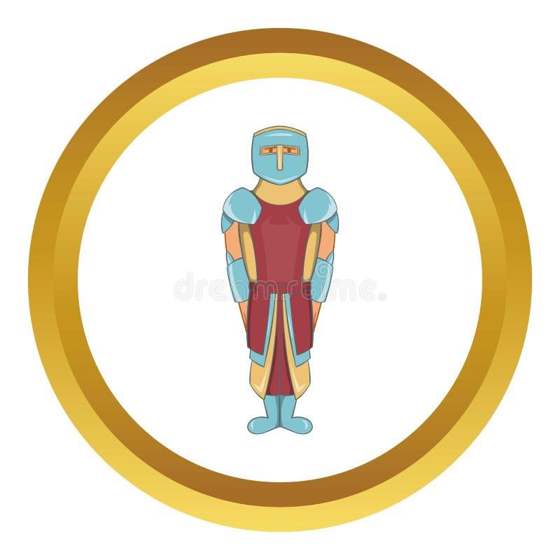 Icône spartiate antique de légionnaire de gladiateur illustration stock