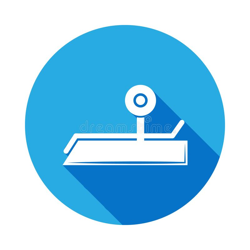 icône sportive de projectile avec la longue ombre Élément d'icône de sport pour les apps mobiles de concept et de Web Ico sportif illustration libre de droits