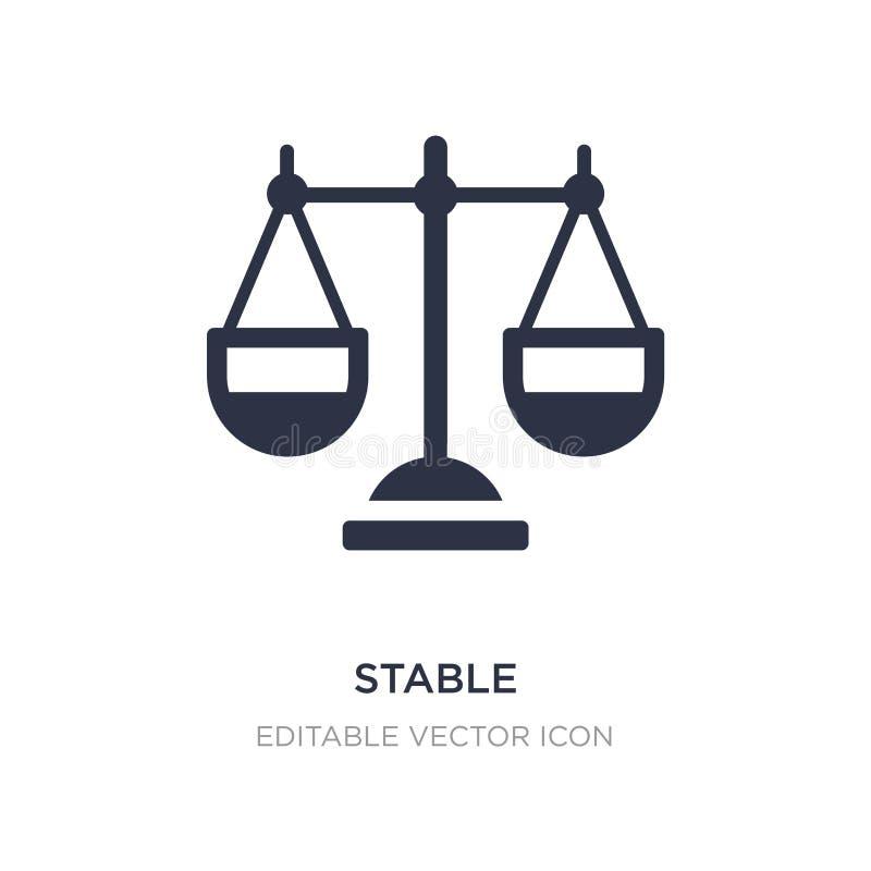 icône stable sur le fond blanc Illustration simple d'élément de notion générale illustration de vecteur