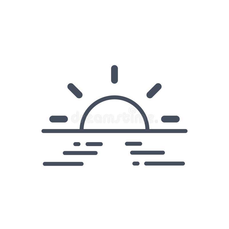 Icône Sunny Weather Concept Forecast Climate de Sun illustration de vecteur
