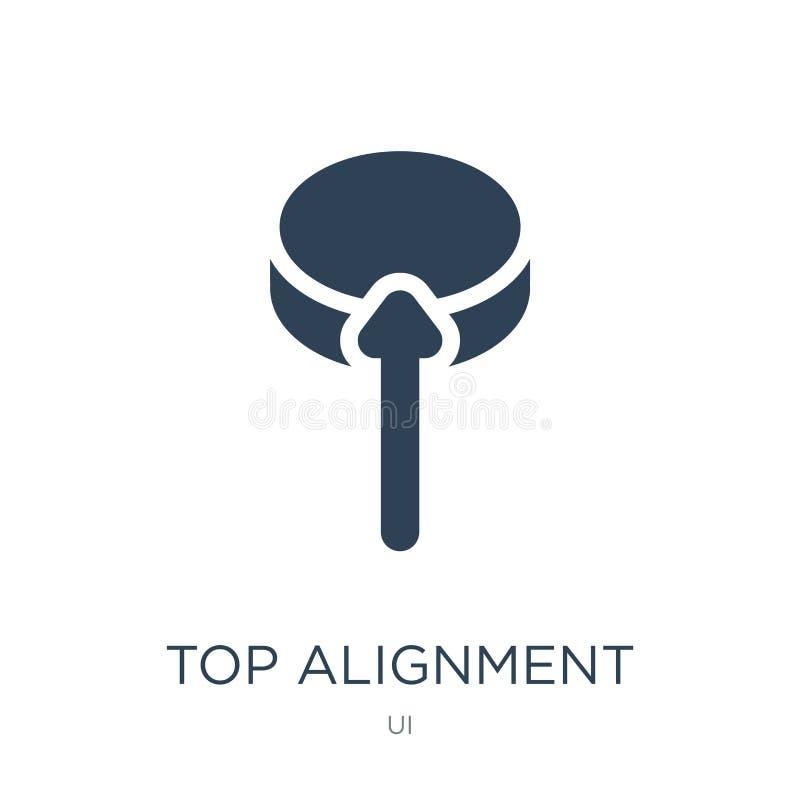 icône supérieure d'alignement dans le style à la mode de conception icône supérieure d'alignement d'isolement sur le fond blanc i illustration de vecteur