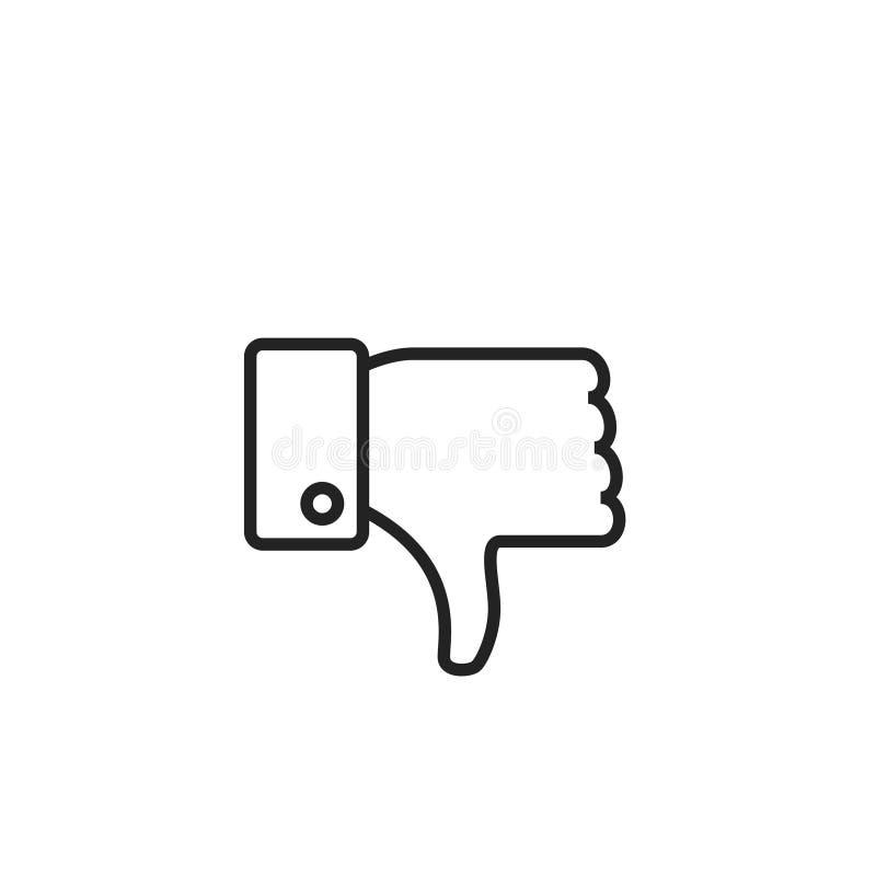 Icône, symbole ou logo de vecteur d'ensemble d'aversion illustration de vecteur