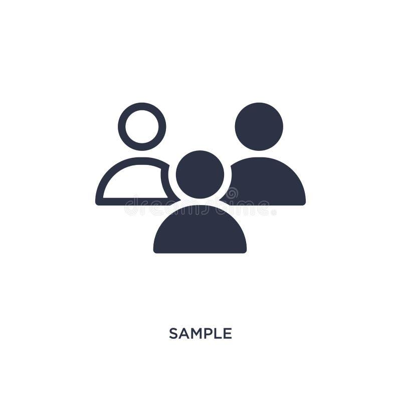 icône témoin sur le fond blanc Illustration simple d'élément de concept de stratégie illustration libre de droits