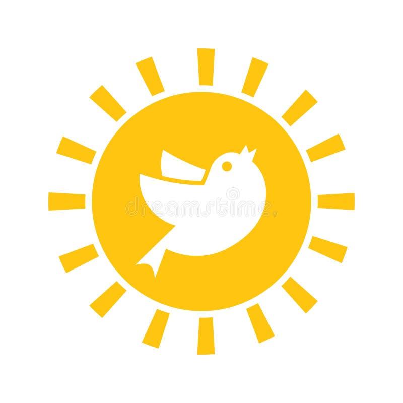 Icône tôt d'oiseau illustration libre de droits