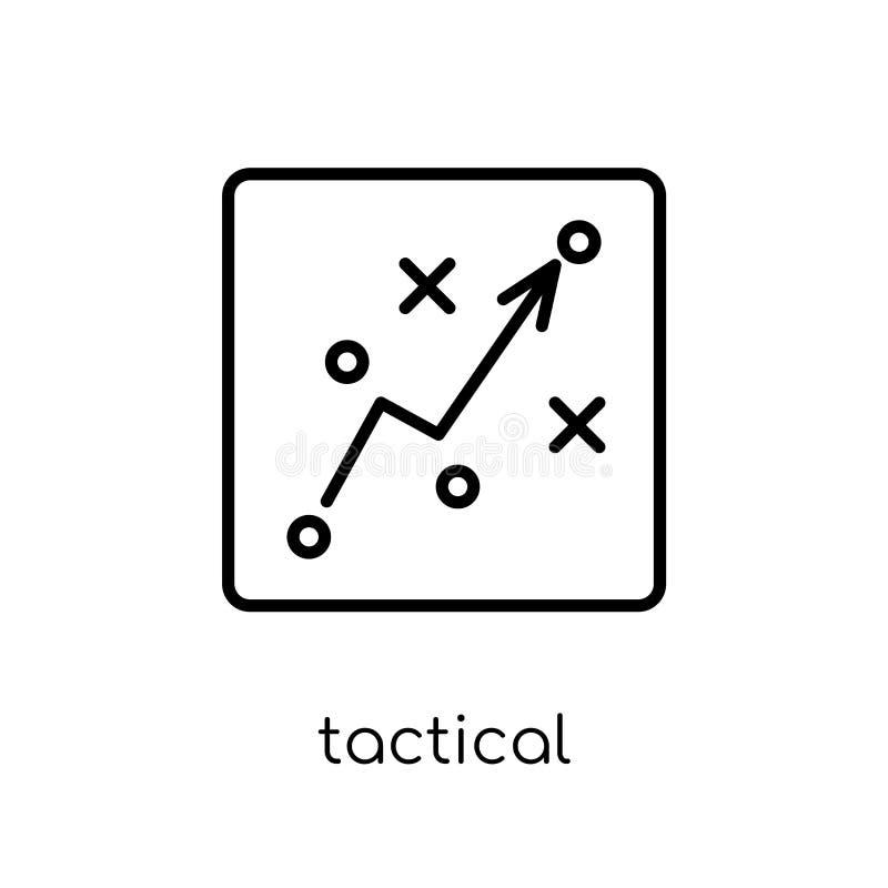 Icône tactique Icône tactique de vecteur linéaire plat moderne à la mode dessus illustration libre de droits