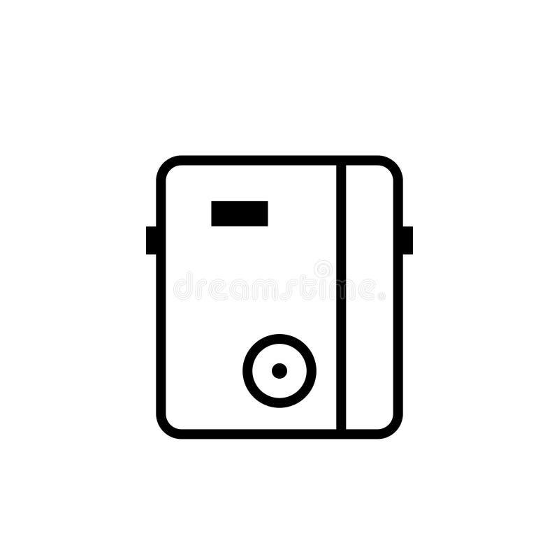Icône Tankless d'ensemble de chauffe-eau illustration de vecteur