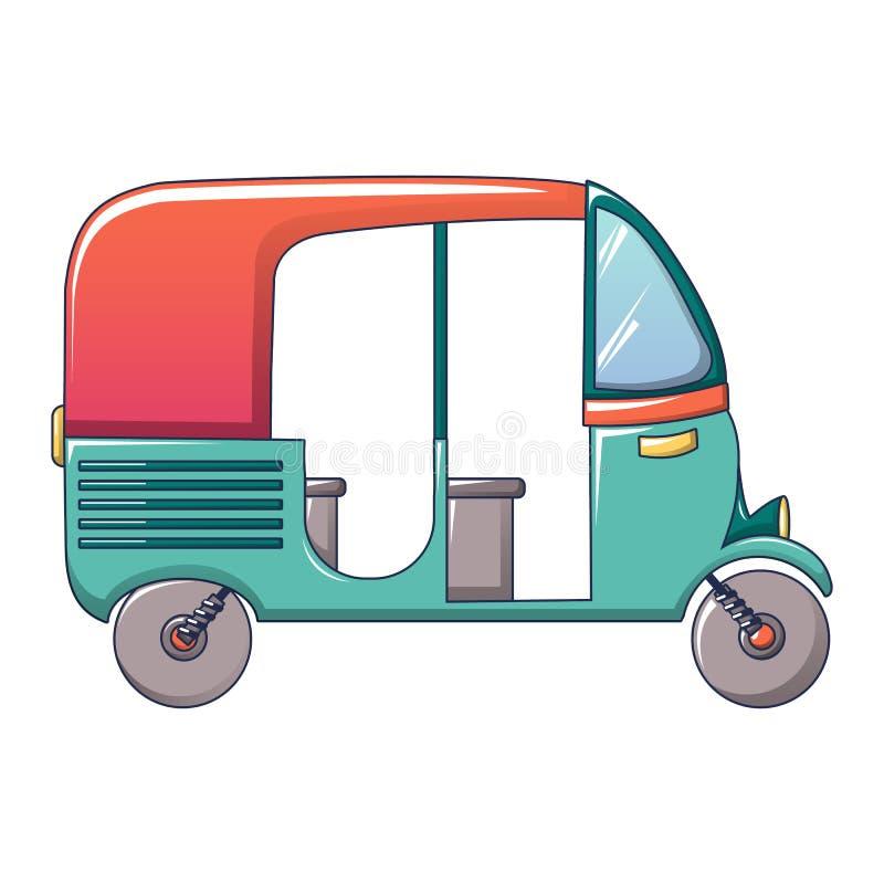 Icône thaïlandaise de taxi de tuk, style de bande dessinée illustration de vecteur