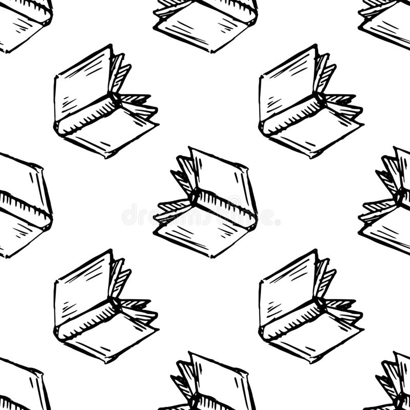 Icone De Livre Noir Sur Le Fond Blanc Illustration De