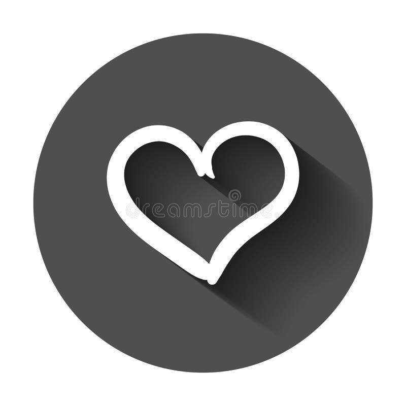 Icône tirée par la main de vecteur de coeurs Illustra de coeur de griffonnage de croquis d'amour illustration de vecteur