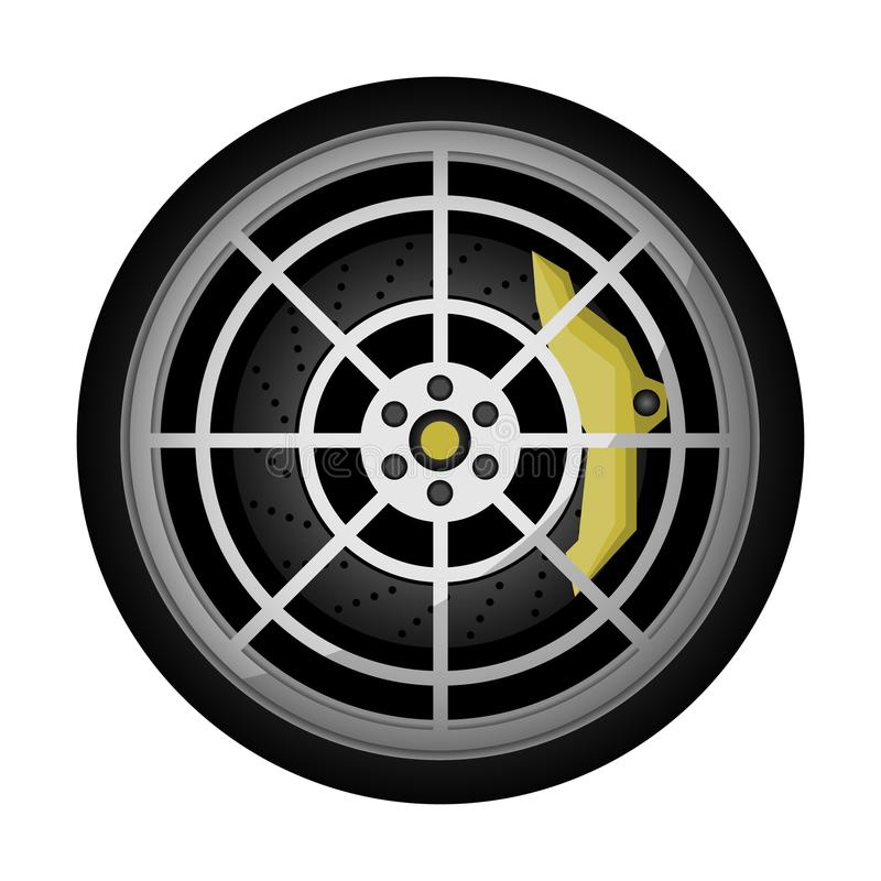 Icône titanique de vecteur de jante de voiture moderne illustration libre de droits
