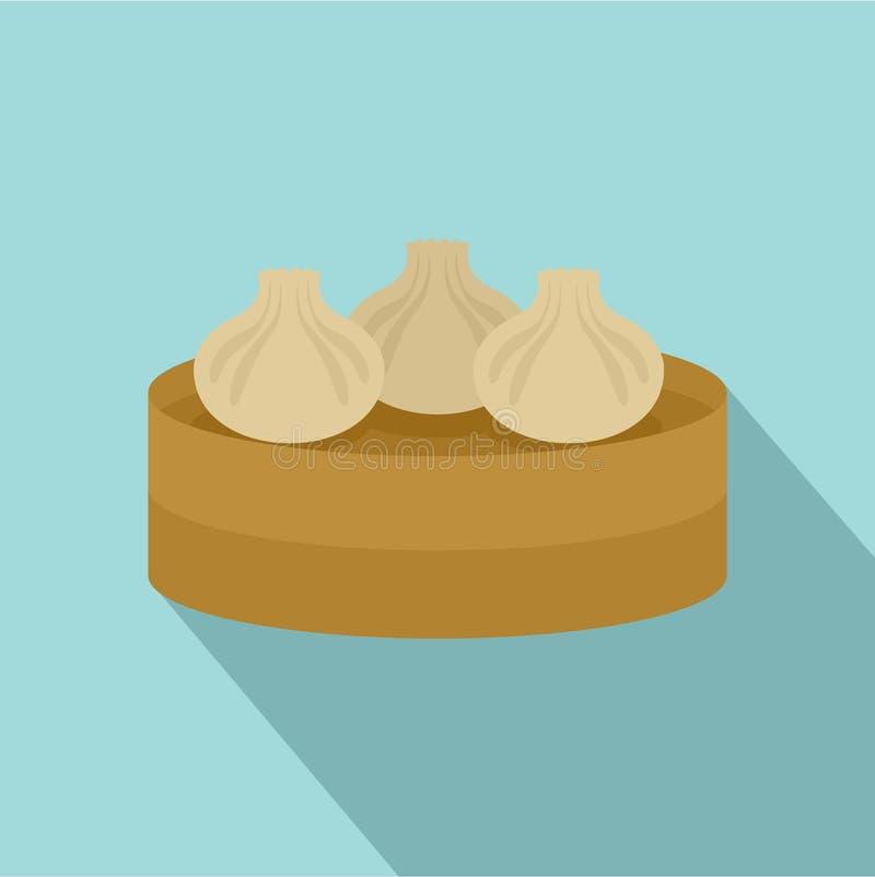 Icône traditionnelle de gâteau de Taiwan, style plat illustration stock