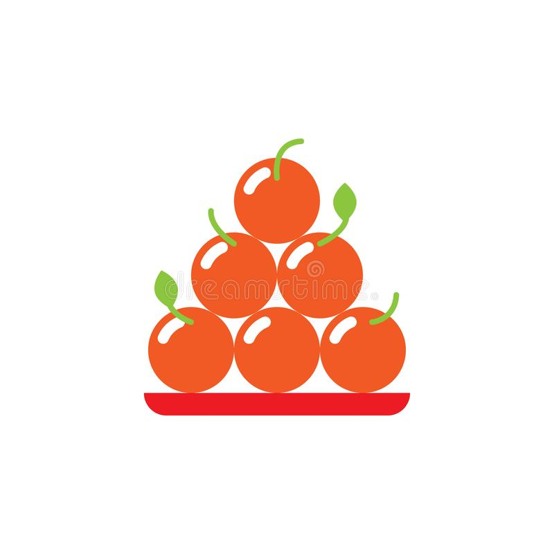 Icône traditionnelle et orange chinoise Élément d'illustration traditionnelle chinoise Ic?ne de la meilleure qualit? de conceptio illustration de vecteur