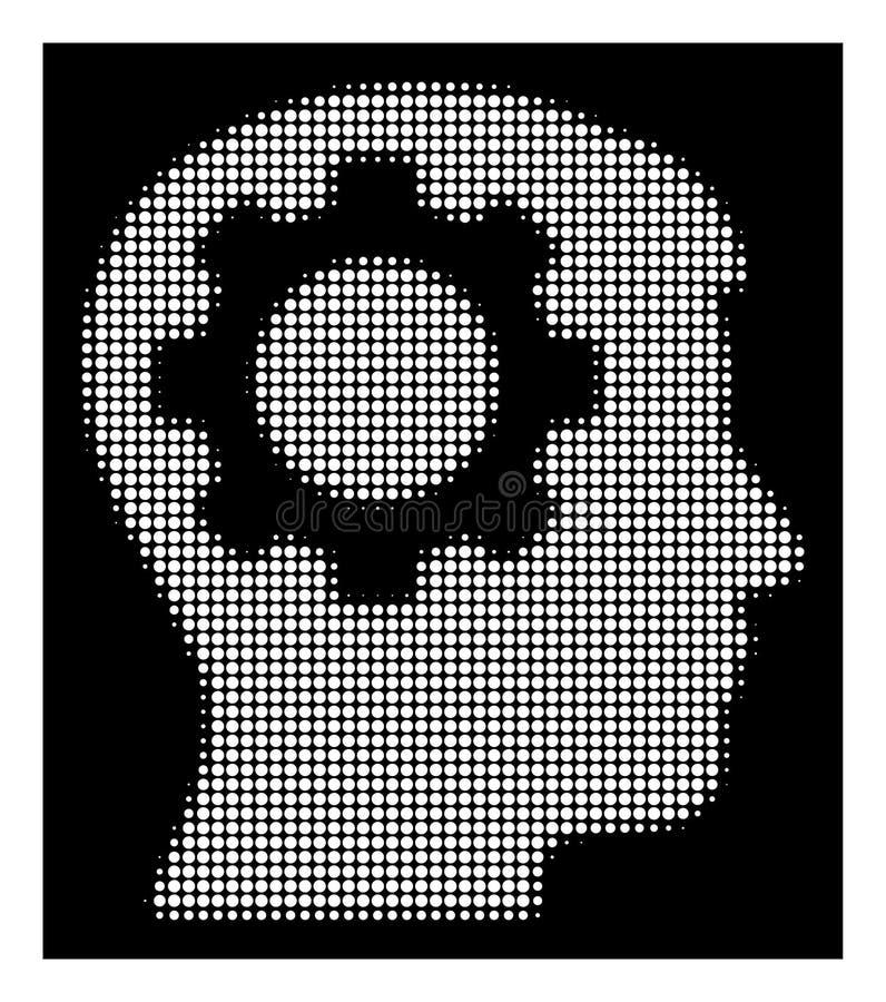 Icône tramée blanche de vitesse d'intellect illustration stock