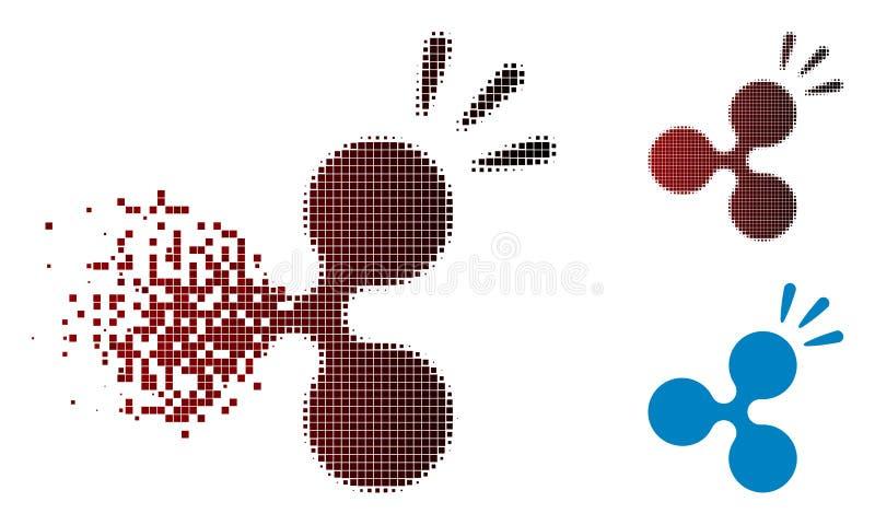 Icône tramée d'éclat d'ondulation de pixel mobile illustration stock