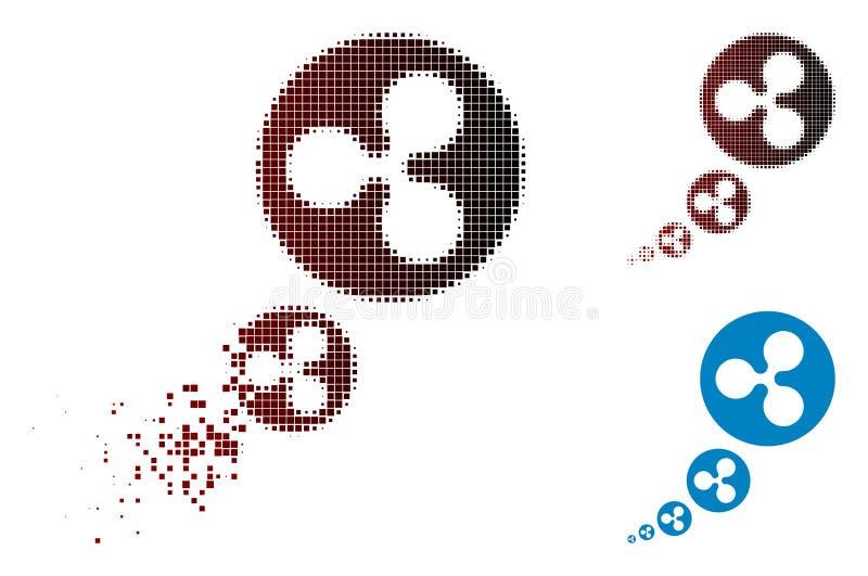 Icône tramée d'inflation d'ondulation de pixel cassé illustration libre de droits