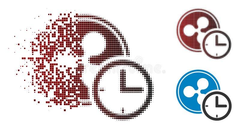 Icône tramée de dissolution de crédit d'ondulation de Pixelated illustration de vecteur