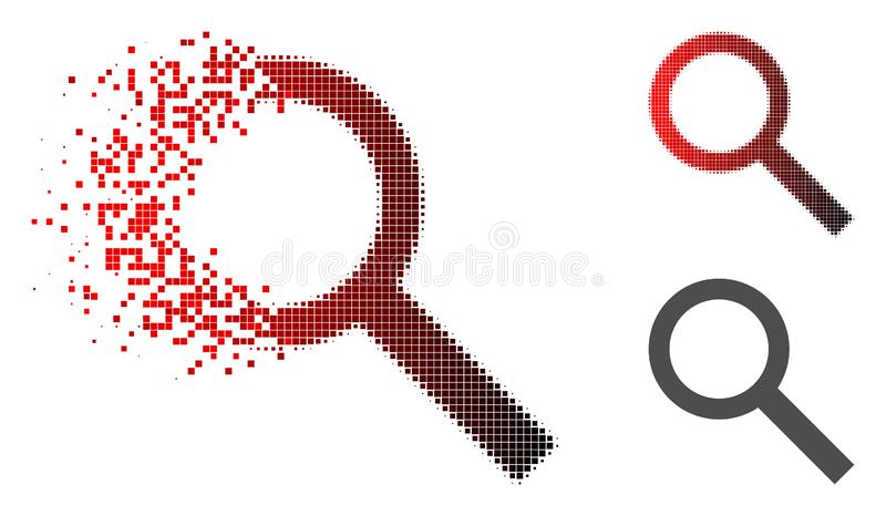Icône tramée de recherche de pixel de la poussière illustration libre de droits
