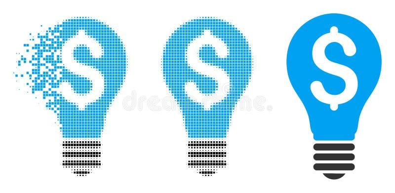 Icône tramée dispersée de brevet de Pixelated illustration libre de droits