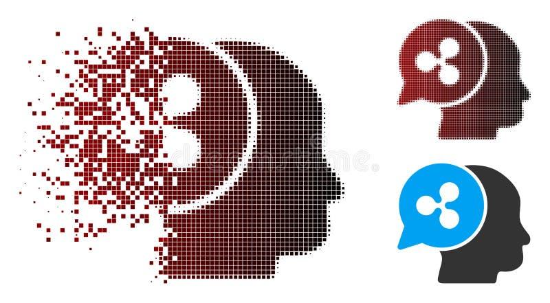 Icône tramée endommagée d'idée d'affaires d'ondulation de Pixelated illustration libre de droits