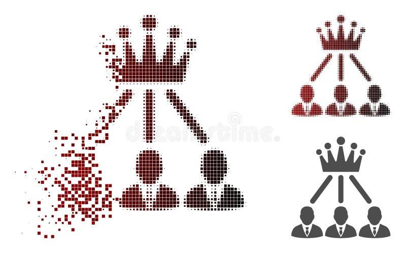 Icône tramée pointillée cassée de couronne d'administration illustration libre de droits