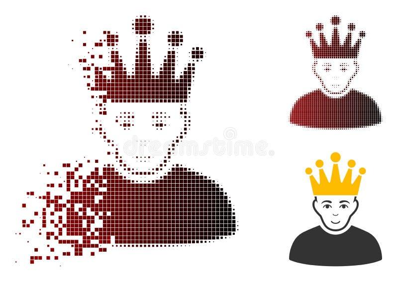 Icône tramée pointillée réduite en fragments de modérateur illustration stock